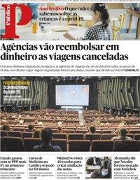 capa Público de 3 setembro 2020
