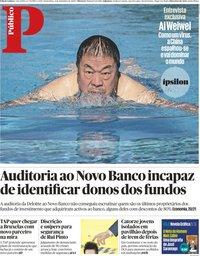 capa Público de 4 setembro 2020