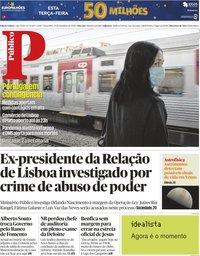 capa Público de 15 setembro 2020