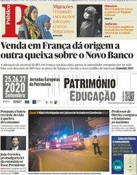 capa Público de 24 setembro 2020