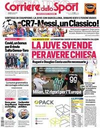capa Corriere dello Sport de 2 outubro 2020