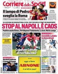 capa Corriere dello Sport de 4 outubro 2020