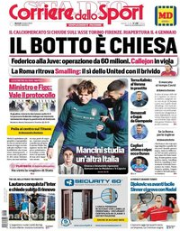 capa Corriere dello Sport de 6 outubro 2020
