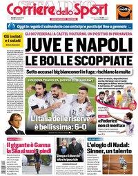 capa Corriere dello Sport de 8 outubro 2020