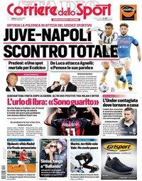 capa Corriere dello Sport de 10 outubro 2020