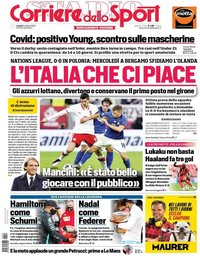 capa Corriere dello Sport de 12 outubro 2020