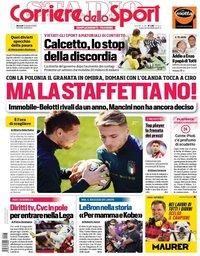 capa Corriere dello Sport de 13 outubro 2020