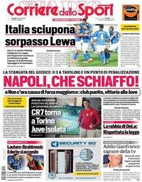 capa Corriere dello Sport de 15 outubro 2020