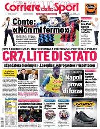 capa Corriere dello Sport de 17 outubro 2020