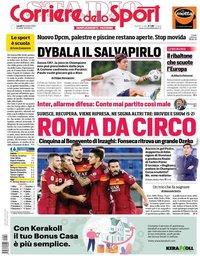 capa Corriere dello Sport de 19 outubro 2020