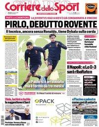 capa Corriere dello Sport de 20 outubro 2020