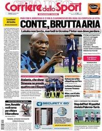 capa Corriere dello Sport de 22 outubro 2020
