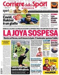 capa Corriere dello Sport de 24 outubro 2020