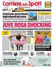 capa Corriere dello Sport de 26 outubro 2020