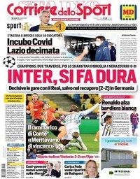 capa Corriere dello Sport de 28 outubro 2020