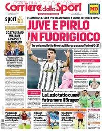 capa Corriere dello Sport de 29 outubro 2020