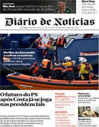 capa Diário de Notícias de 2 outubro 2020