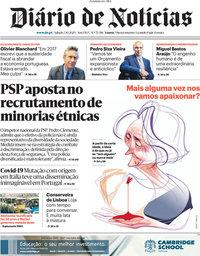 capa Diário de Notícias de 3 outubro 2020