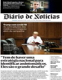 capa Diário de Notícias de 5 outubro 2020