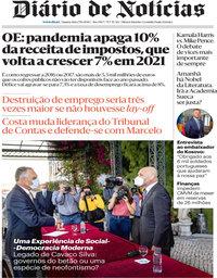 capa Diário de Notícias de 7 outubro 2020