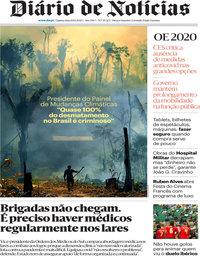 capa Diário de Notícias de 8 outubro 2020