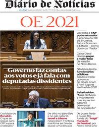 capa Diário de Notícias de 14 outubro 2020