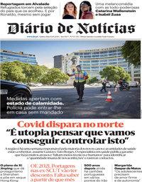 capa Diário de Notícias de 15 outubro 2020