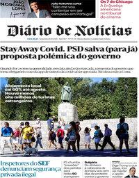 capa Diário de Notícias de 16 outubro 2020