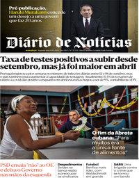 capa Diário de Notícias de 19 outubro 2020