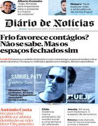 capa Diário de Notícias de 20 outubro 2020