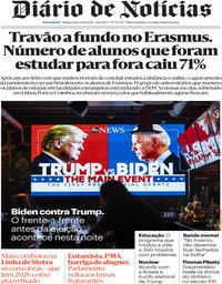 capa Diário de Notícias de 22 outubro 2020