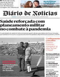 capa Diário de Notícias de 23 outubro 2020