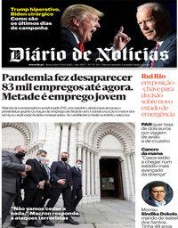 capa Diário de Notícias de 30 outubro 2020
