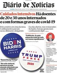 capa Diário de Notícias de 31 outubro 2020