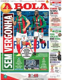 capa Jornal A Bola de 4 outubro 2020