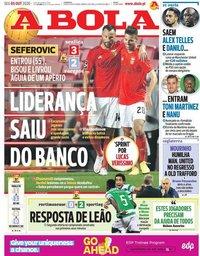 capa Jornal A Bola de 5 outubro 2020