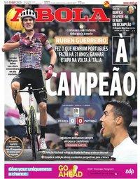capa Jornal A Bola de 12 outubro 2020