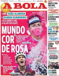 capa Jornal A Bola de 13 outubro 2020
