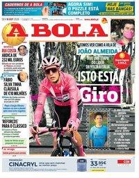 capa Jornal A Bola de 16 outubro 2020