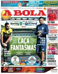 capa Jornal A Bola de 17 outubro 2020