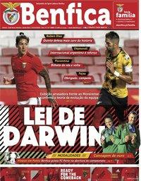 capa Jornal Benfica de 2 outubro 2020