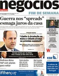 capa Jornal de Negócios de 2 outubro 2020