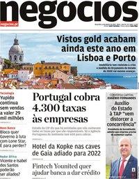 capa Jornal de Negócios de 6 outubro 2020