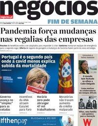 capa Jornal de Negócios de 9 outubro 2020