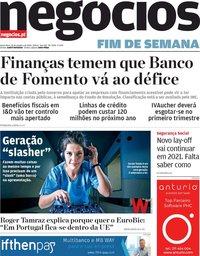 capa Jornal de Negócios de 16 outubro 2020