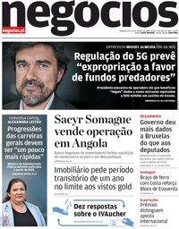 capa Jornal de Negócios de 19 outubro 2020