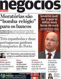 capa Jornal de Negócios de 20 outubro 2020