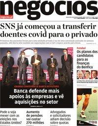 capa Jornal de Negócios de 28 outubro 2020