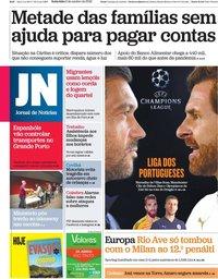 capa Jornal de Notícias de 2 outubro 2020
