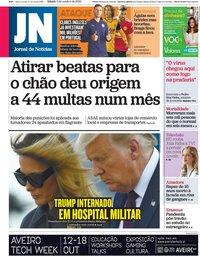 capa Jornal de Notícias de 3 outubro 2020